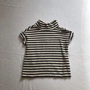 Anthropologie striped turtleneck blouse sz:S